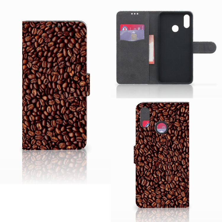 Huawei P Smart Plus Book Cover Koffiebonen