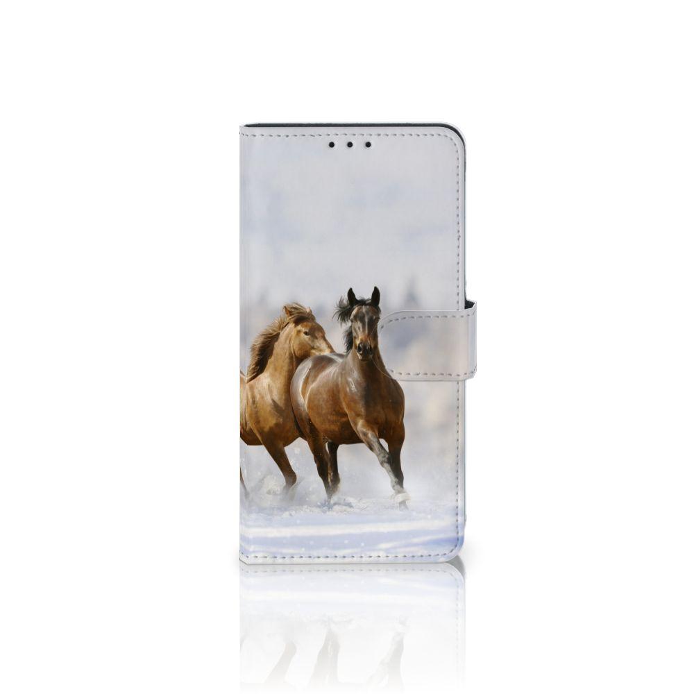 Samsung Galaxy J4 Plus (2018) Uniek Boekhoesje Paarden