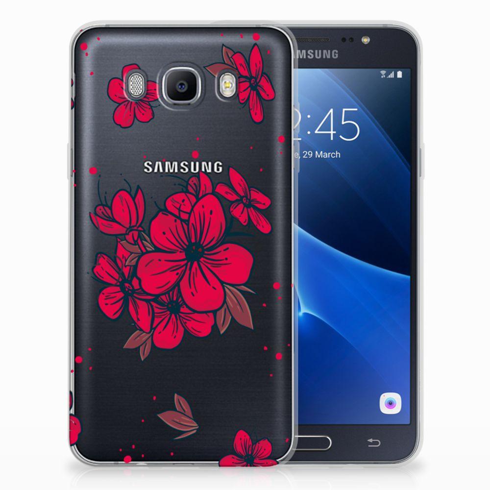 Samsung Galaxy J7 2016 TPU Hoesje Design Blossom Red