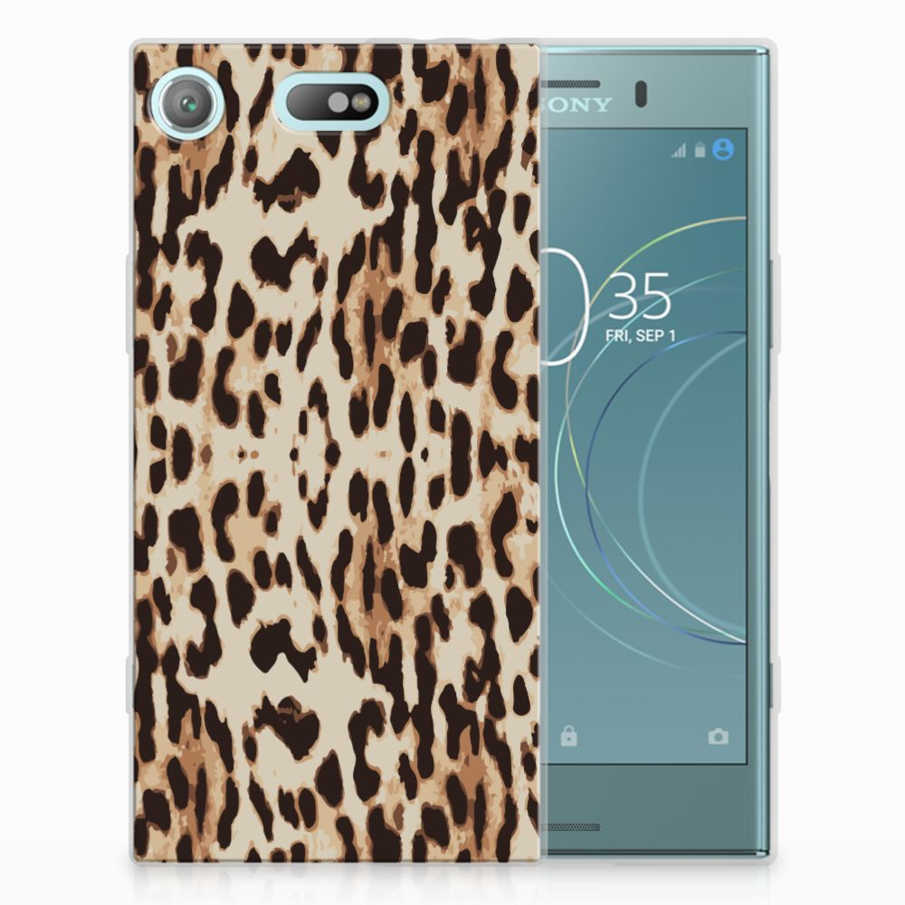 Sony Xperia XZ1 Compact Uniek TPU Hoesje Leopard