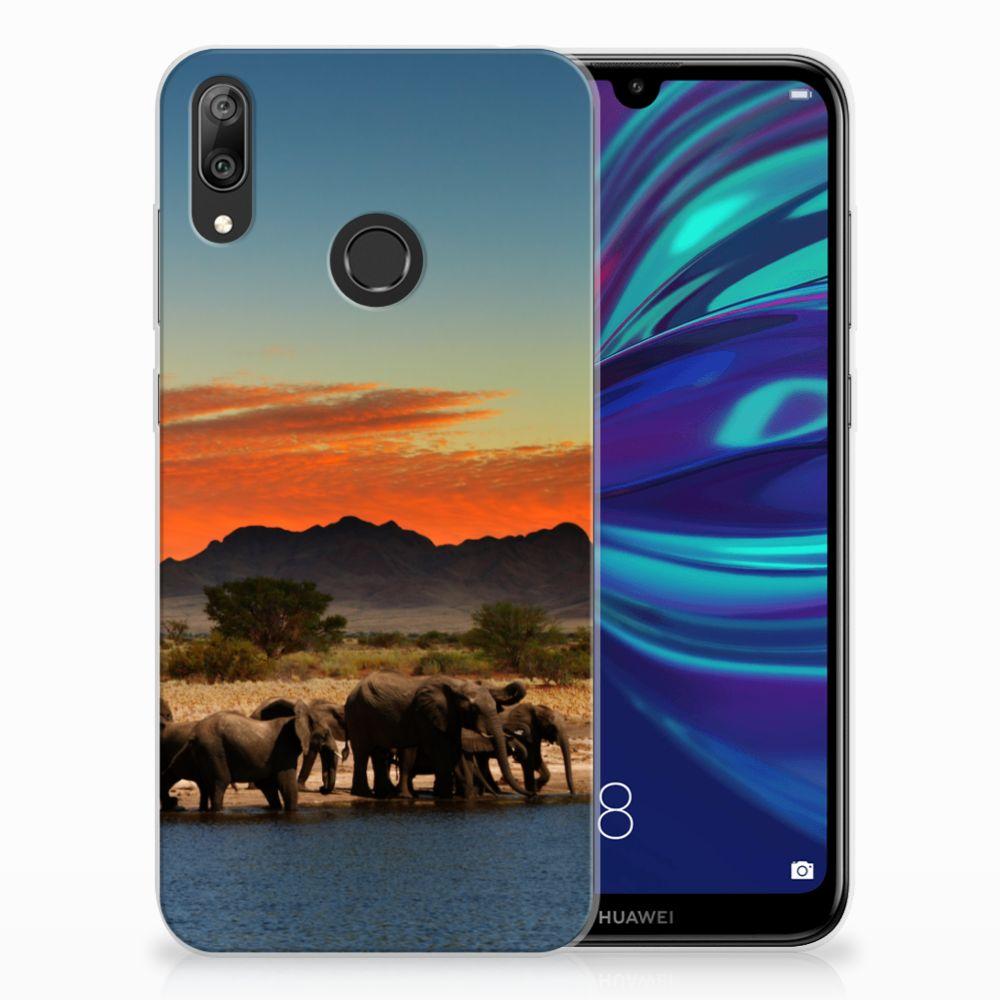 Huawei Y7 2019 Leuk Hoesje Olifanten