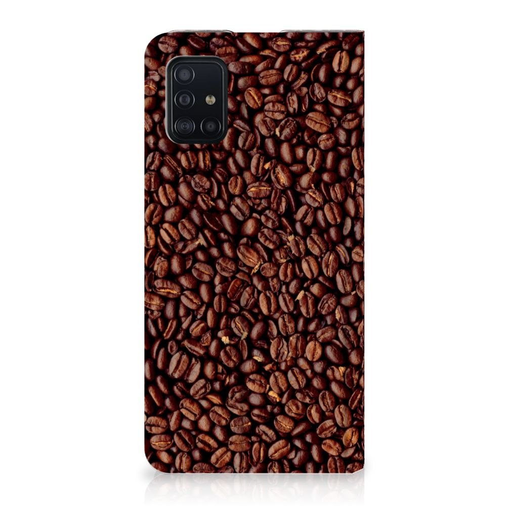 Samsung Galaxy A51 Flip Style Cover Koffiebonen