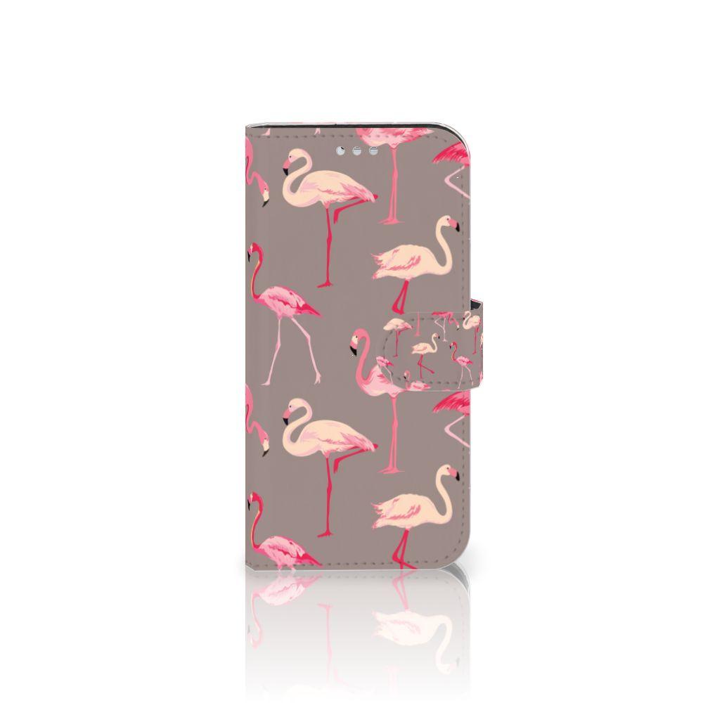 Samsung Galaxy S7 Telefoonhoesje met Pasjes Flamingo