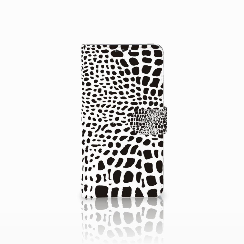 Microsoft Lumia 640 XL Telefoonhoesje met Pasjes Slangenprint