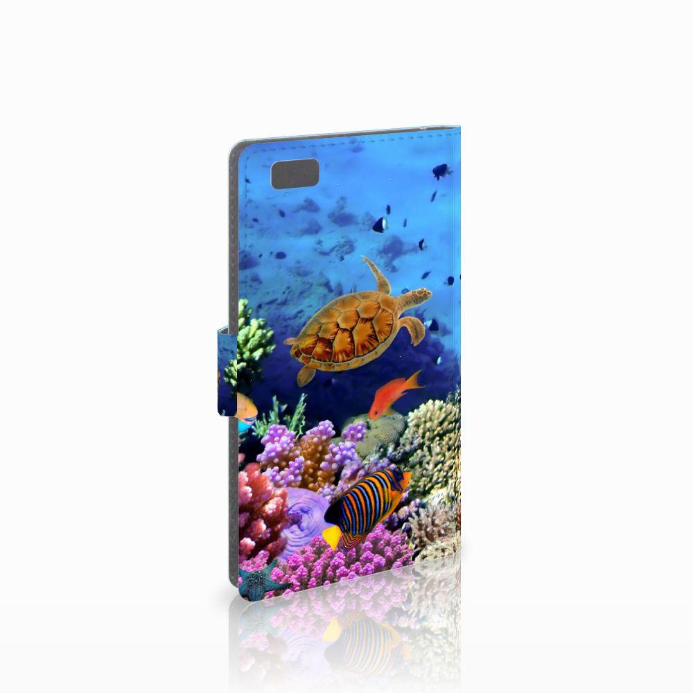 Huawei Ascend P8 Lite Telefoonhoesje met Pasjes Vissen