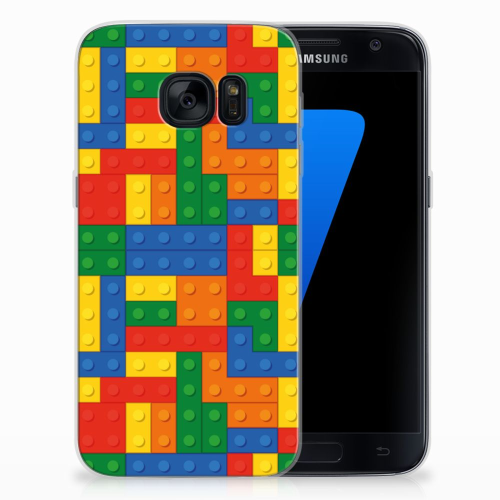 Samsung Galaxy S7 TPU Hoesje Design Blokken
