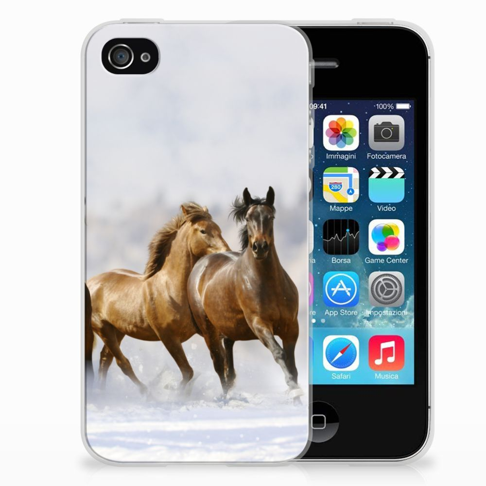 Apple iPhone 4 | 4s TPU Hoesje Paarden