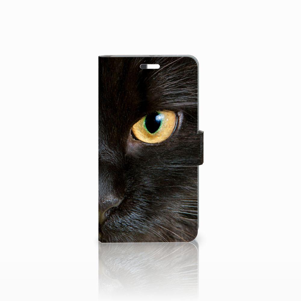 Huawei P9 Plus Uniek Boekhoesje Zwarte Kat