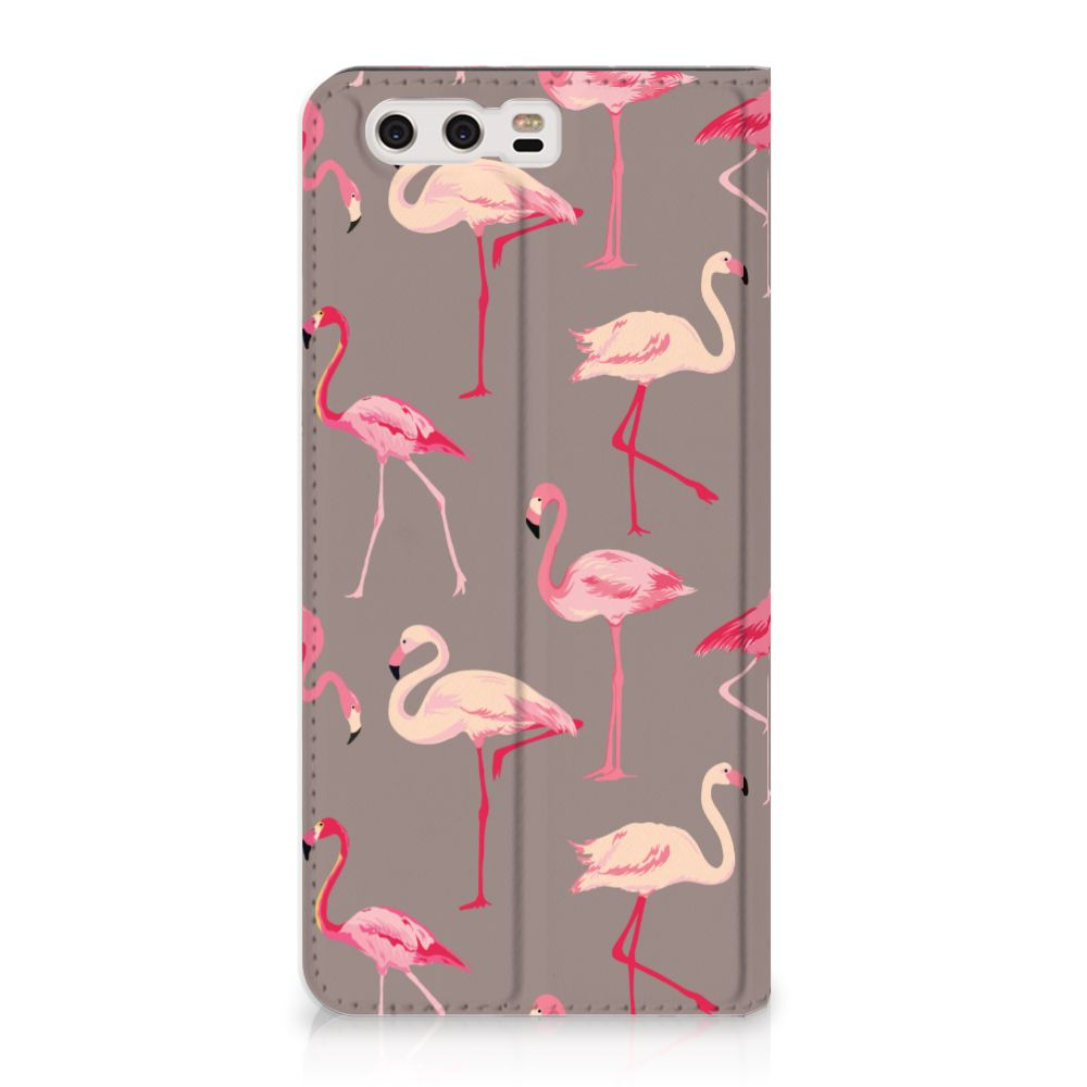 Huawei P10 Plus Uniek Standcase Hoesje Flamingo