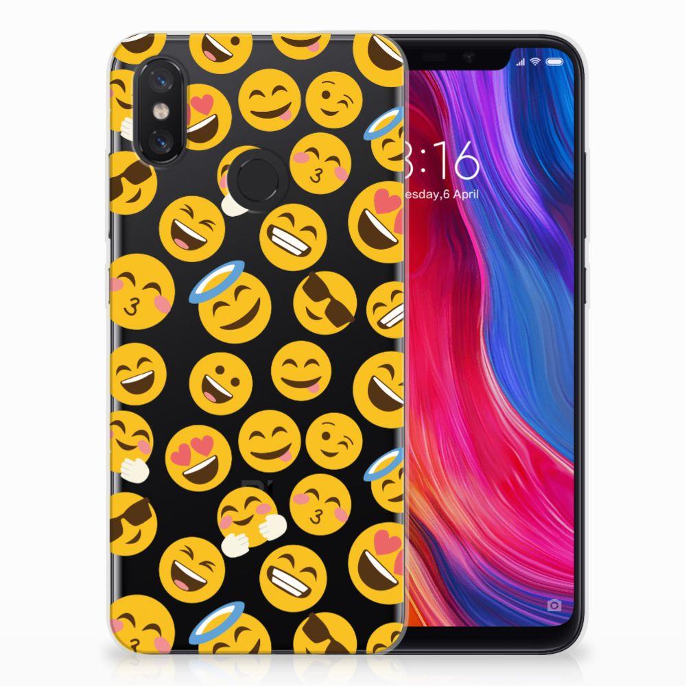 Xiaomi Mi 8 TPU Hoesje Design Emoji