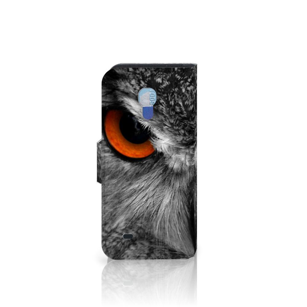 Samsung Galaxy S4 Mini i9190 Telefoonhoesje met Pasjes Uil