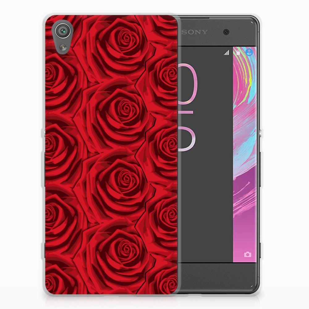 Sony Xperia XA | XA Dual Uniek TPU Hoesje Red Roses