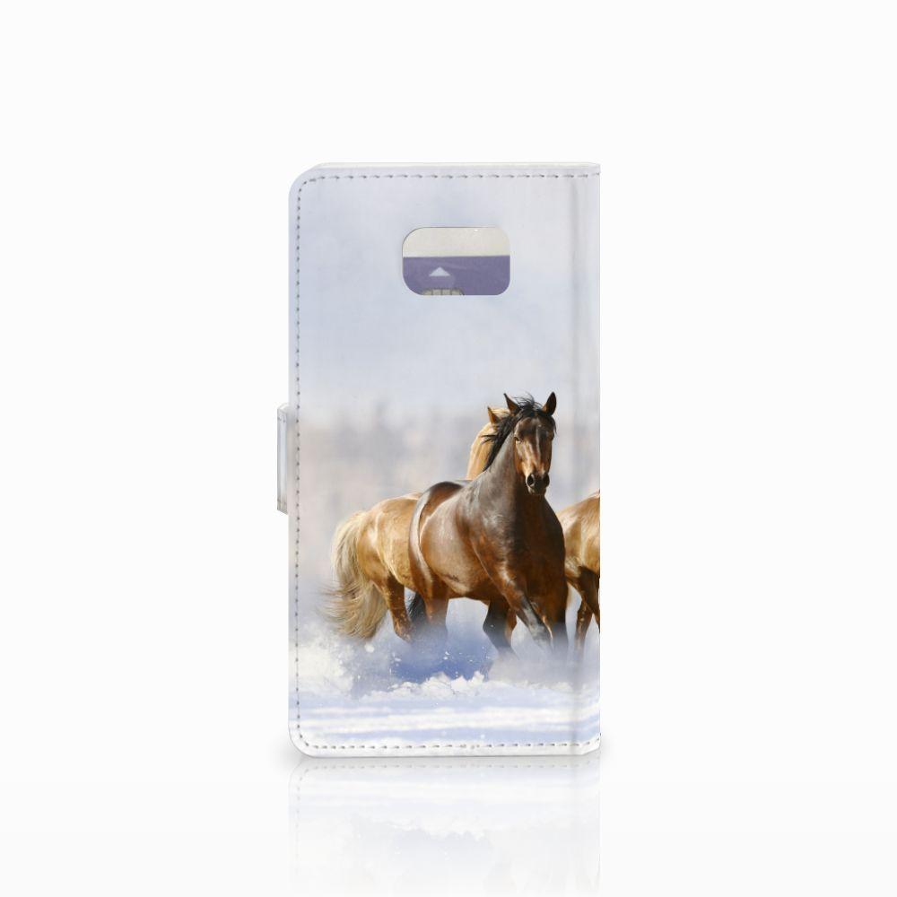Samsung Galaxy Note 5 Telefoonhoesje met Pasjes Paarden