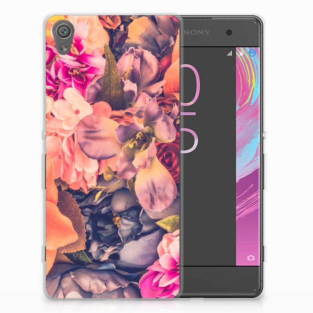 Sony Xperia XA | XA Dual TPU Hoesje Design Bosje Bloemen