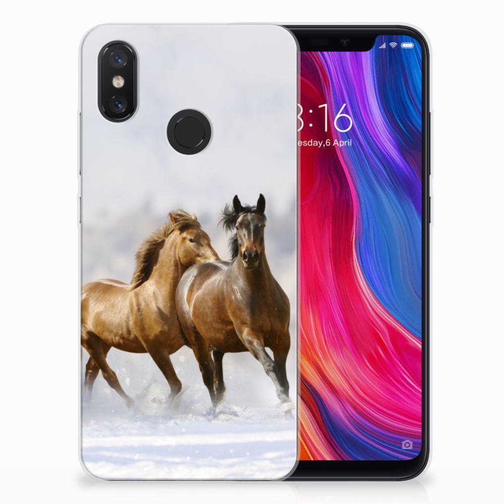 Xiaomi Mi 8 Leuk Hoesje Paarden