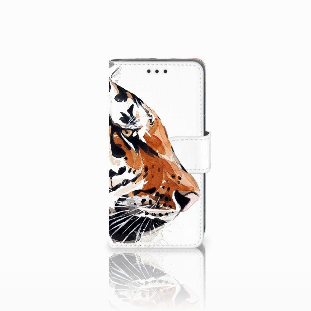 Nokia Lumia 630 Uniek Boekhoesje Watercolor Tiger