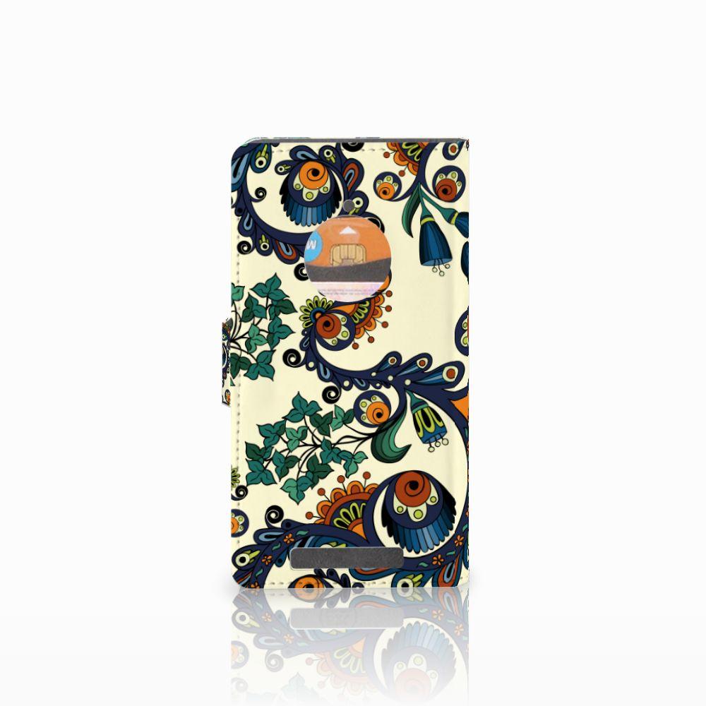 Wallet Case Nokia Lumia 830 Barok Flower