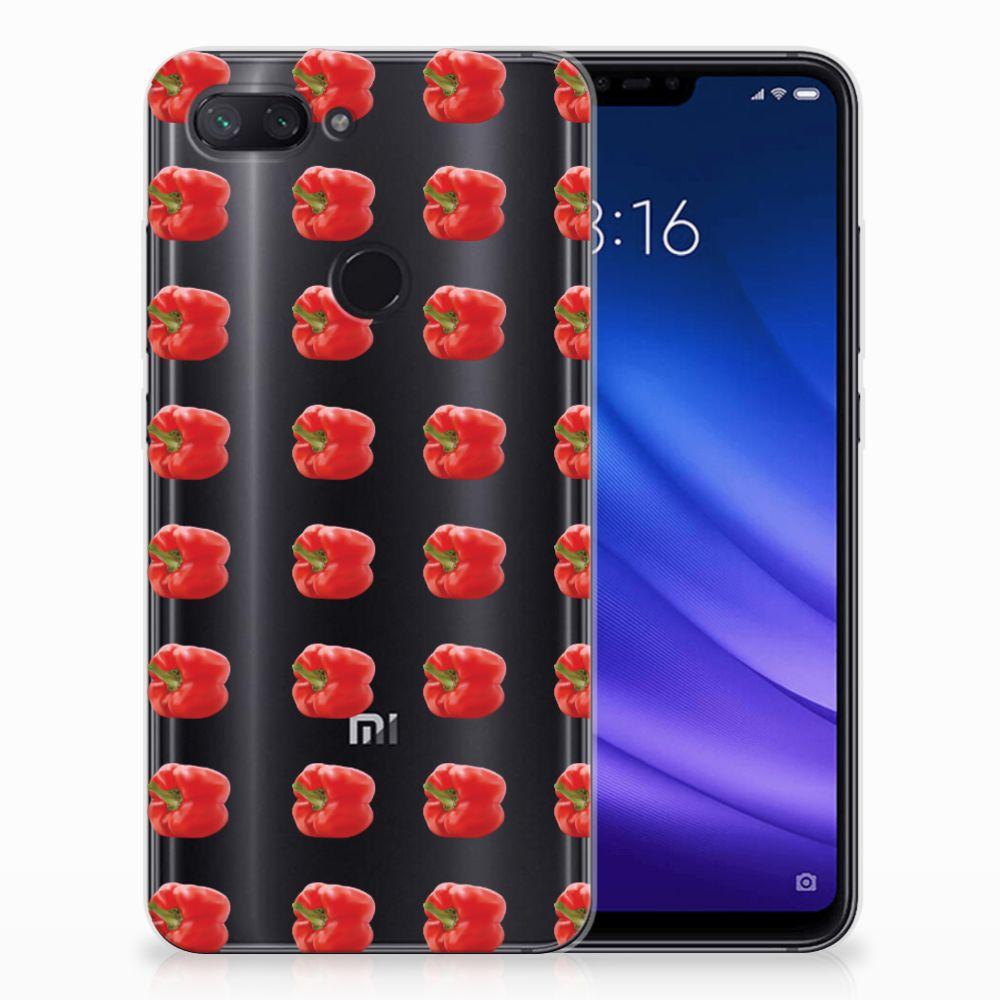 Xiaomi Mi 8 Lite Siliconen Case Paprika Red