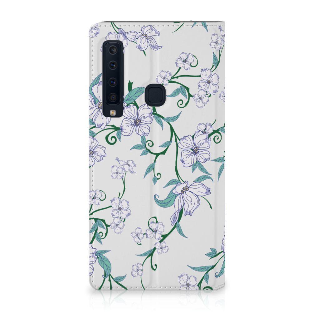 Samsung Galaxy A9 (2018) Uniek Standcase Hoesje Blossom White