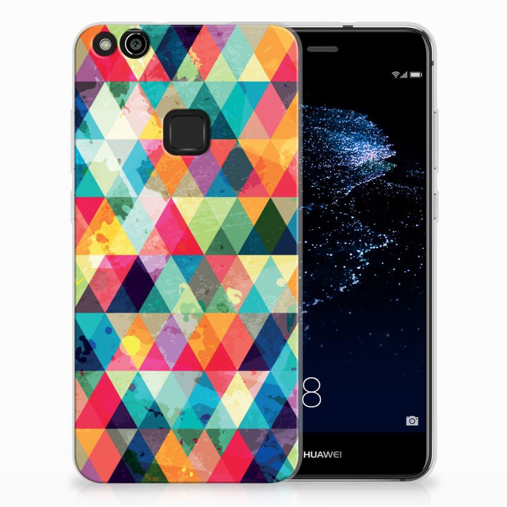 Huawei P10 Lite Uniek TPU Hoesje Geruit