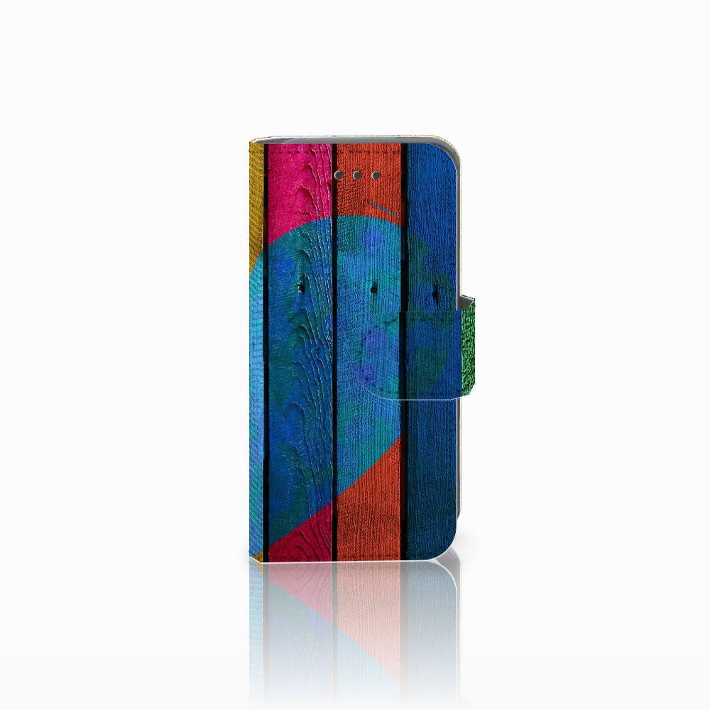 Apple iPod Touch 5   6 Uniek Boekhoesje Wood Heart