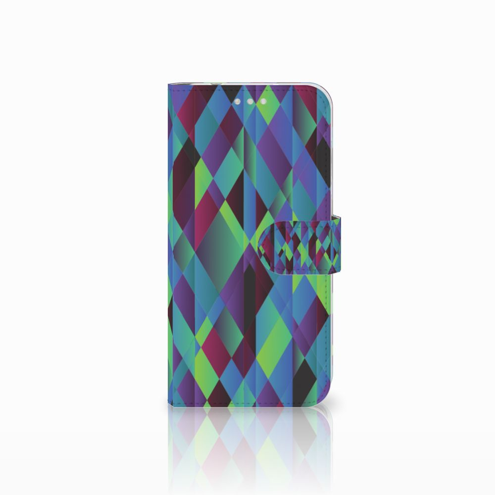 Huawei P20 Pro Bookcase Abstract Green Blue