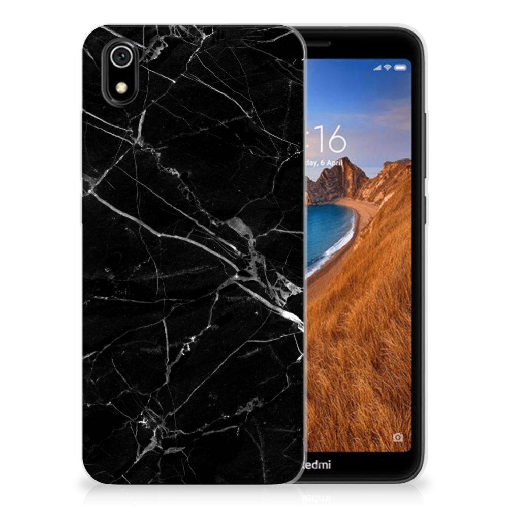 Xiaomi Redmi 7A TPU Siliconen Hoesje Marmer Zwart