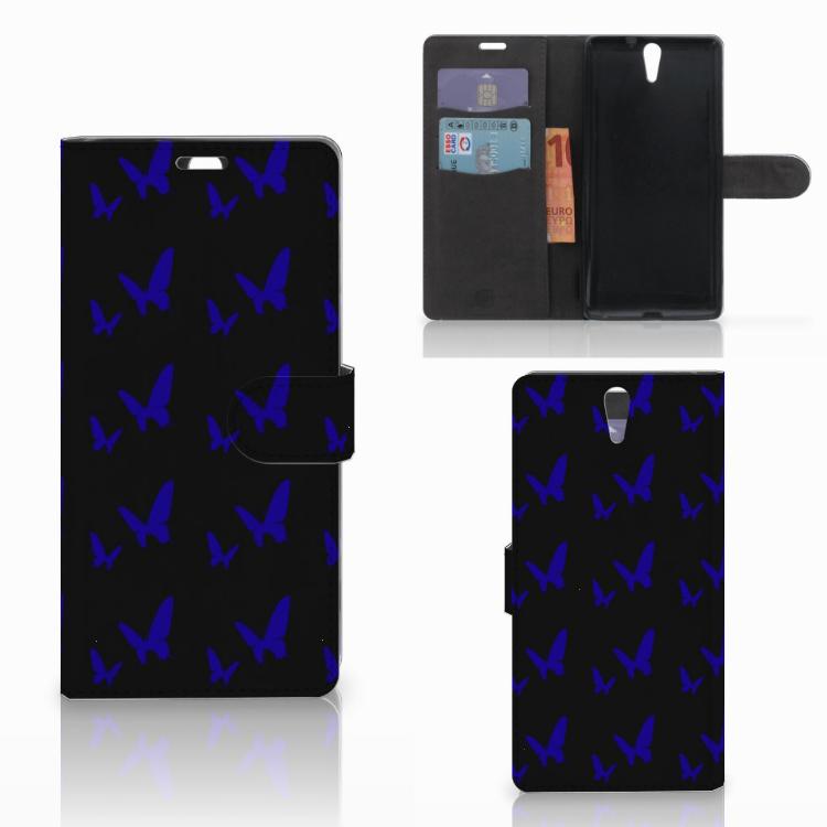 Sony Xperia C5 Ultra Telefoon Hoesje Vlinder Patroon
