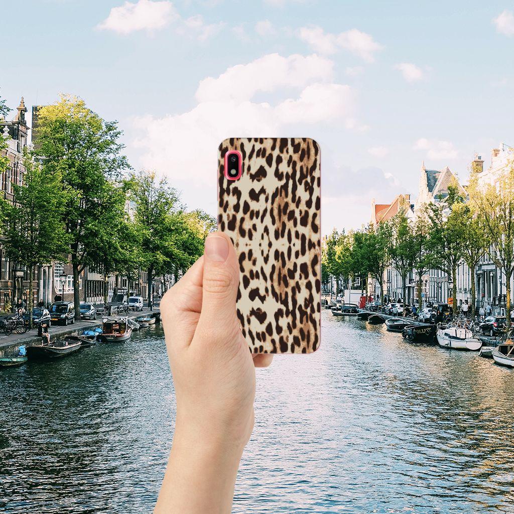 Samsung Galaxy A10 TPU Hoesje Leopard