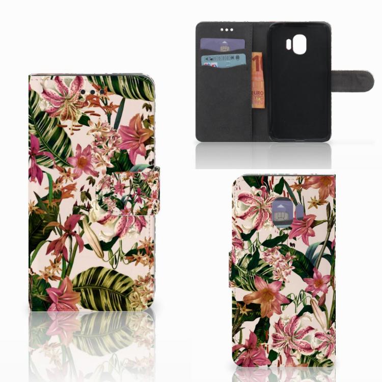 Samsung Galaxy J2 Pro 2018 Hoesje Flowers