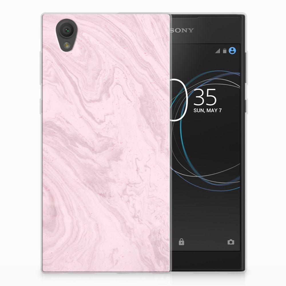 Sony Xperia L1 TPU Hoesje Marble Pink