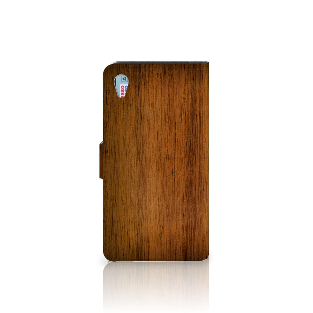Sony Xperia Z3 Book Style Case Donker Hout