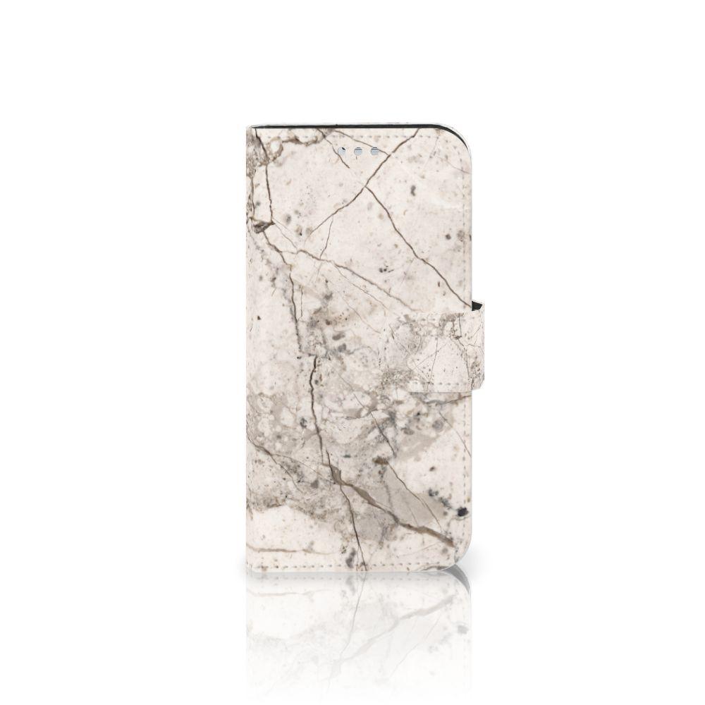 Samsung Galaxy S7 Boekhoesje Design Marmer Beige