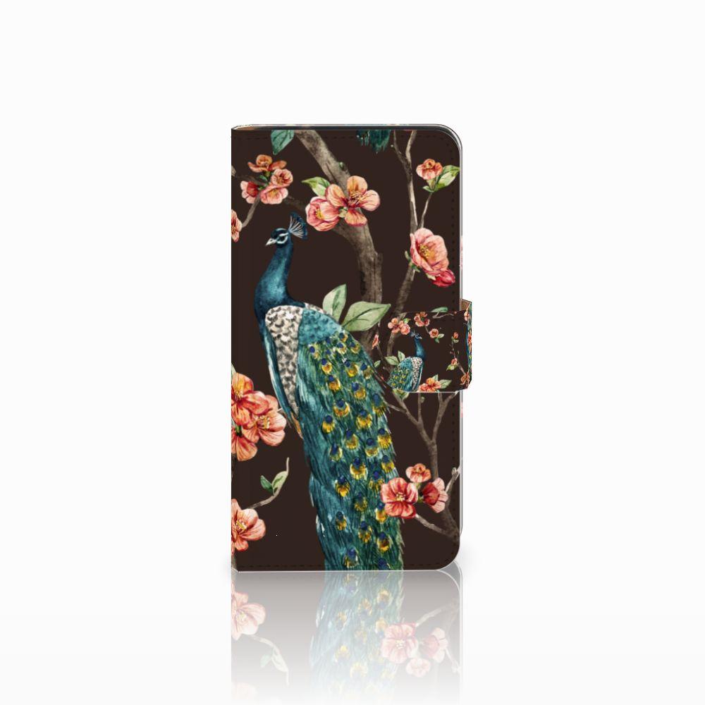 Samsung Galaxy J2 2016 Boekhoesje Design Pauw met Bloemen