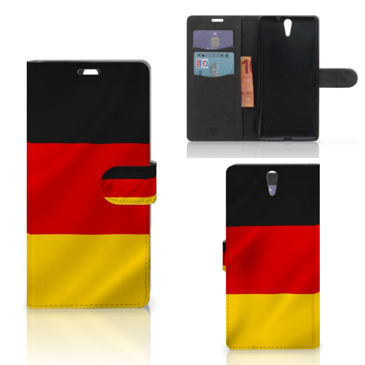 Sony Xperia C5 Ultra Bookstyle Case Duitsland