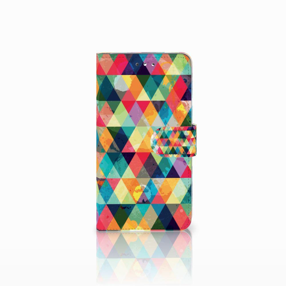 Huawei Y7 2017 | Y7 Prime 2017 Uniek Boekhoesje Geruit