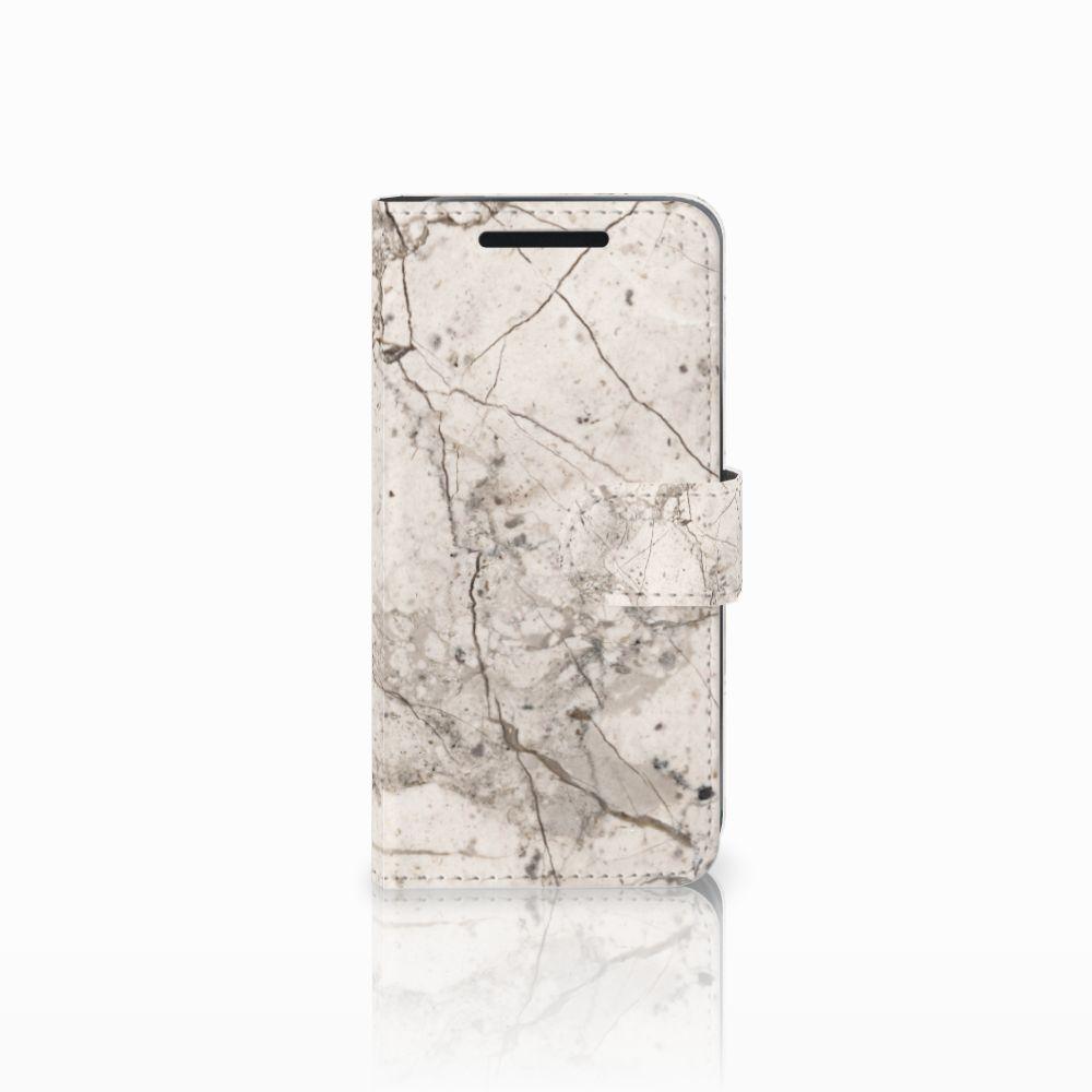 HTC One M9 Bookcase Marmer Beige