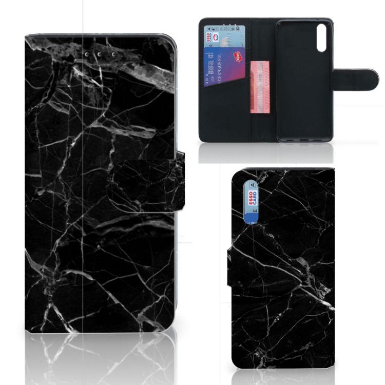 Huawei P20 Bookcase Marmer Zwart