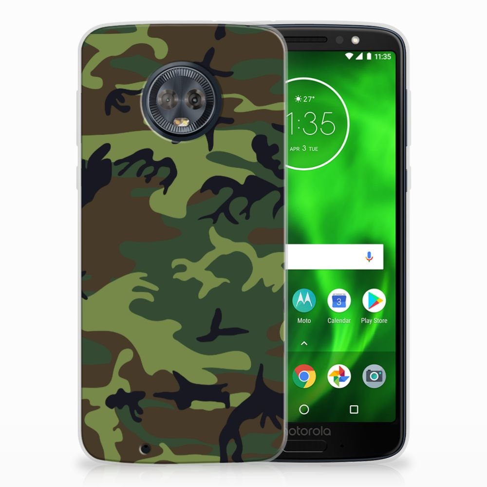 Motorola Moto G6 TPU Hoesje Design Army Dark