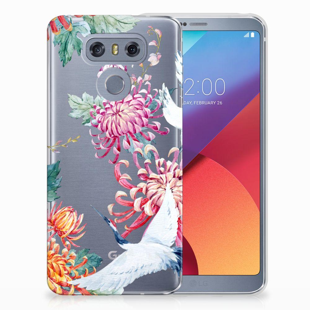 LG G6 Uniek TPU Hoesje Bird Flowers