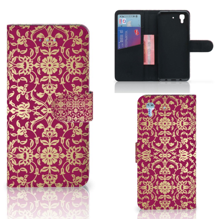 Wallet Case Honor 4A | Y6 Barok Pink