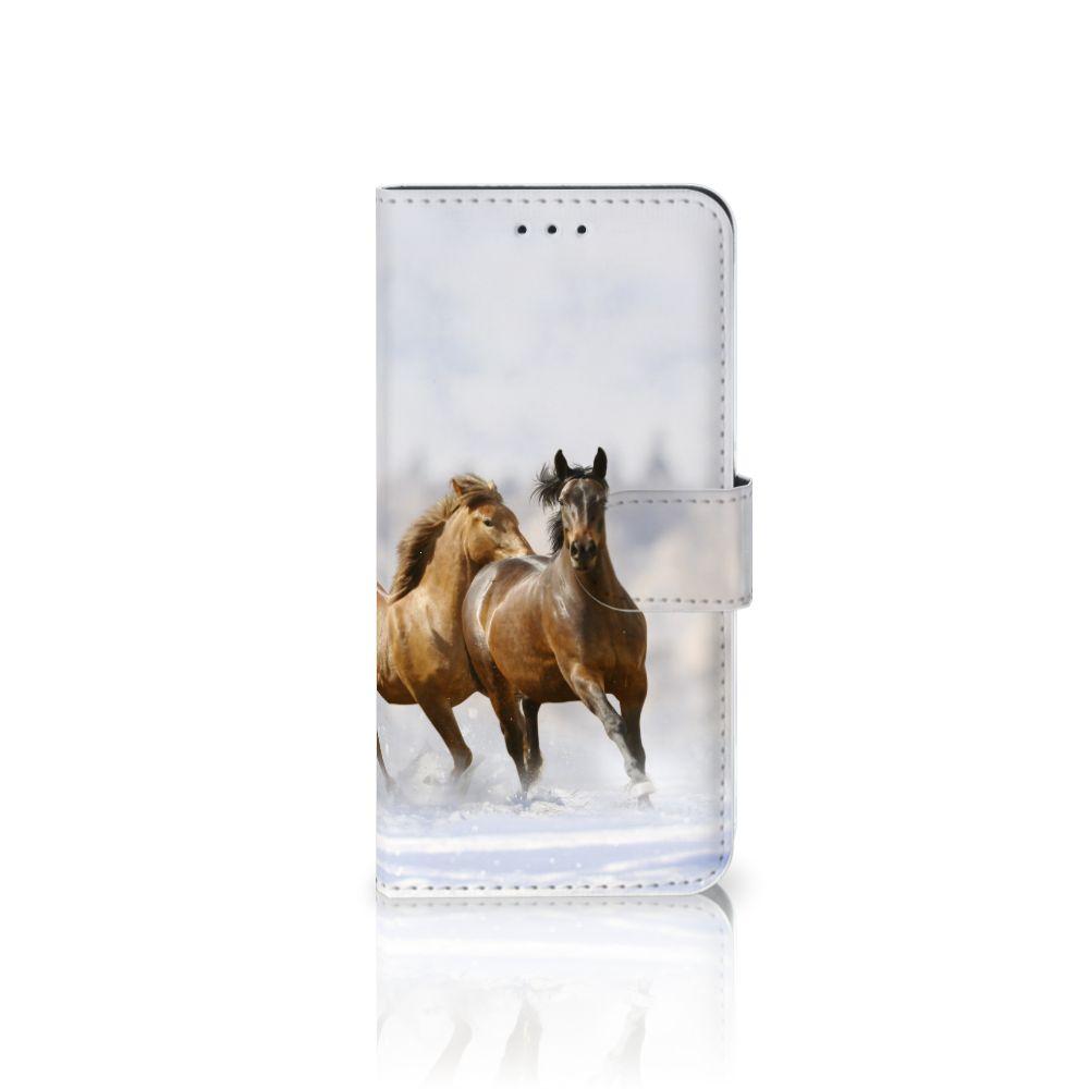 Nokia 7.1 Uniek Boekhoesje Paarden