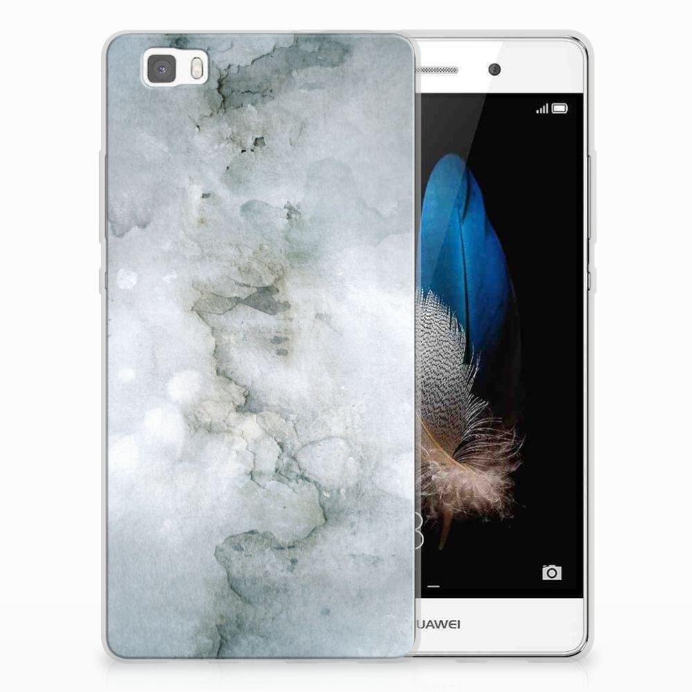 Huawei Ascend P8 Lite Uniek TPU Hoesje Painting Grey