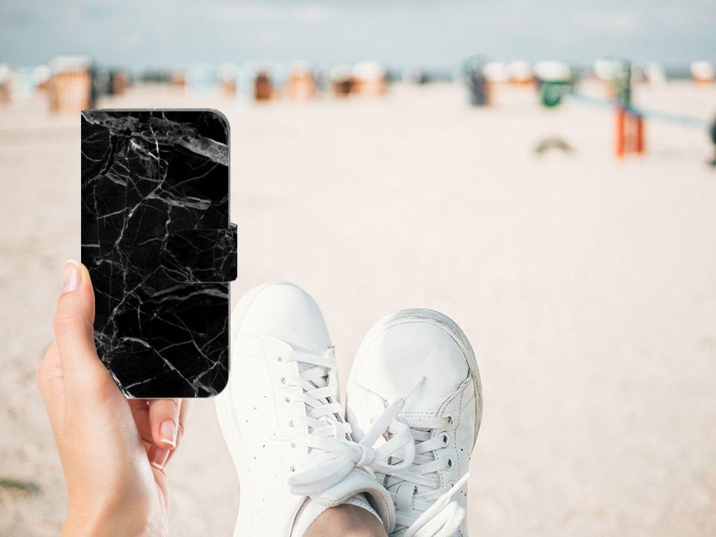 Apple iPhone X | Xs Uniek Boekhoesje Marmer Zwart
