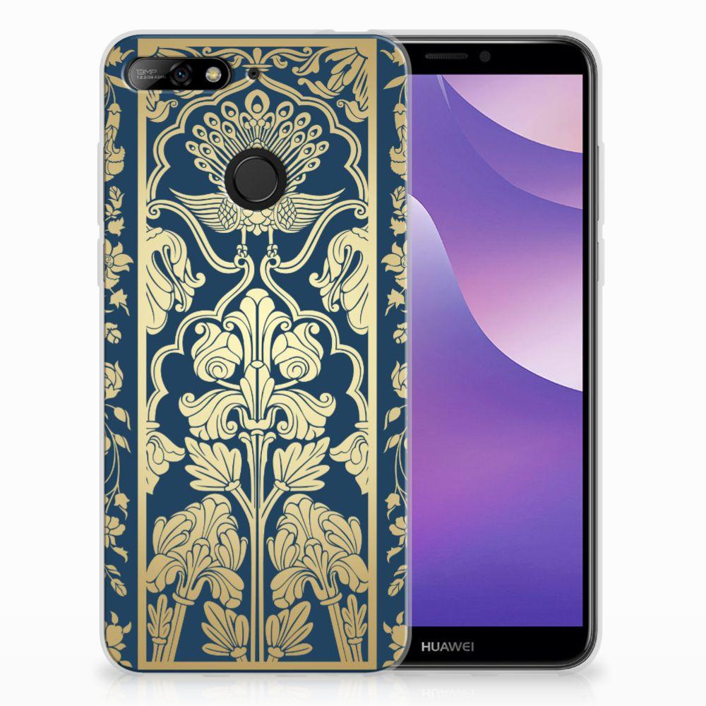 Huawei Y6 (2018) TPU Case Golden Flowers