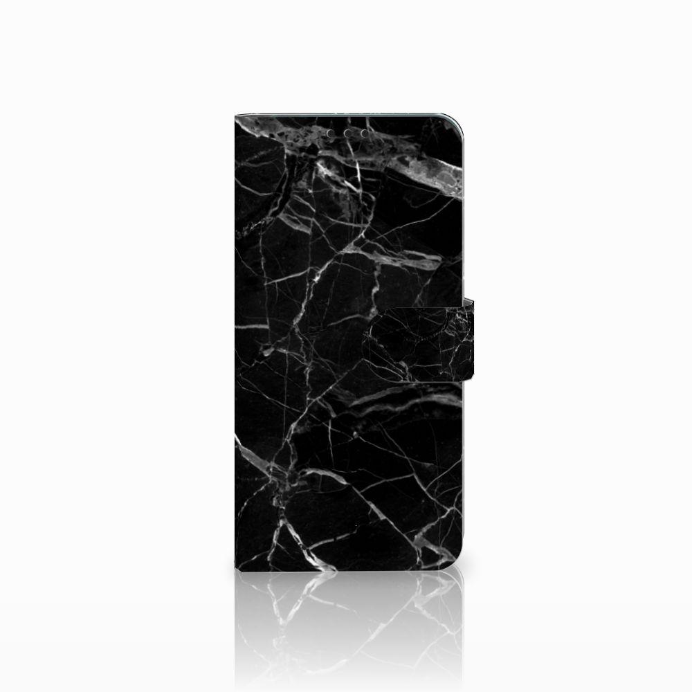 Huawei P Smart Plus Uniek Boekhoesje Marmer Zwart