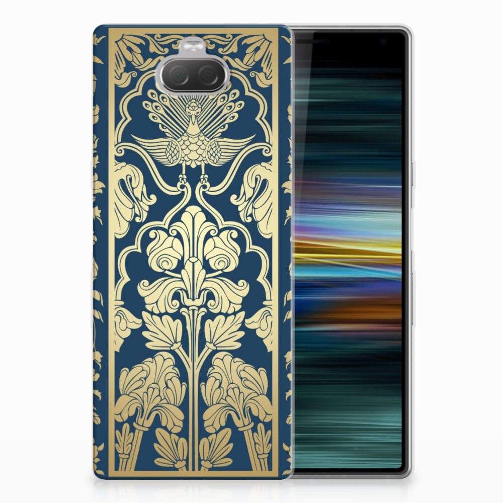 Sony Xperia 10 Plus TPU Case Golden Flowers