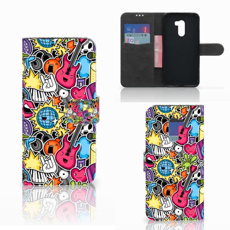 Xiaomi Pocophone F1 Wallet Case met Pasjes Punk Rock