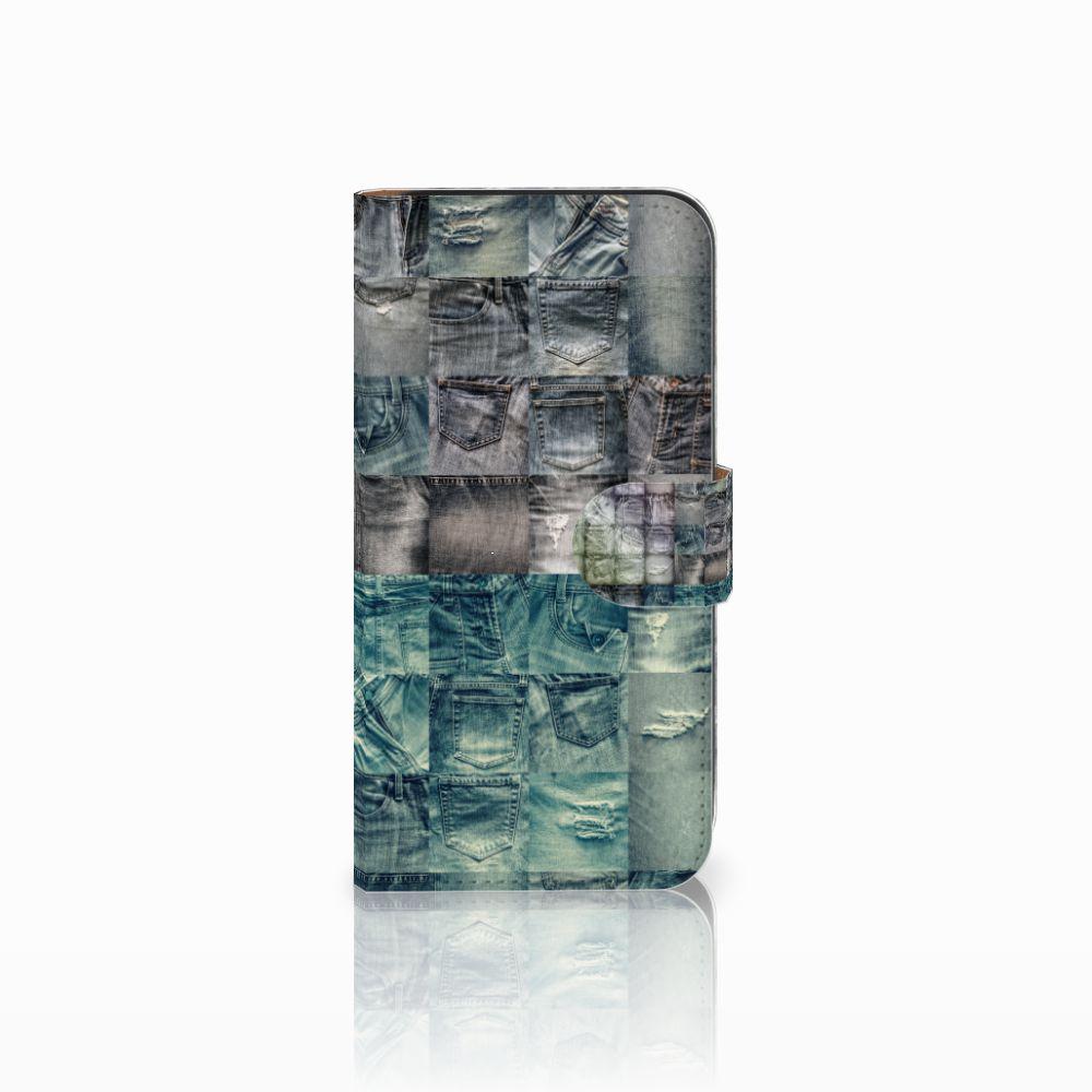 Samsung Galaxy E5 Uniek Boekhoesje Spijkerbroeken