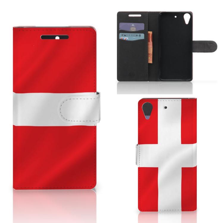 HTC Desire 628 Bookstyle Case Denemarken